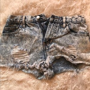 Distressed forever 21 shorts